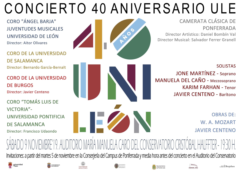 Concierto 40 Aniversario Aniversario Unileon